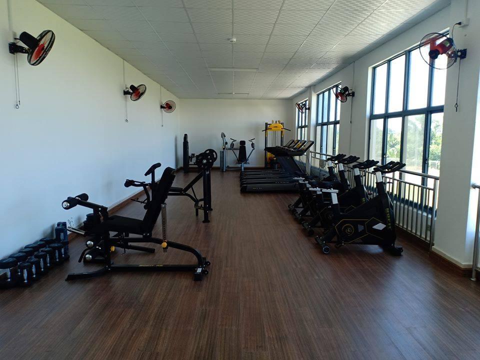 1 phòng tập gym phục vụ cán bộ tại công ty may